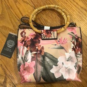 Brand new floral Vince Camuto Bag with ring handle